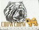 Classic Line Chow Chow Tote Bags