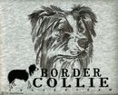 """Tote Noir"" Border Collie Tote Bags"