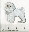 Breed Icon Line Bichon Frise Pawprint Hand Towels
