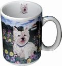 Artistic Line Westie and Scotty 13oz Coffee Mug